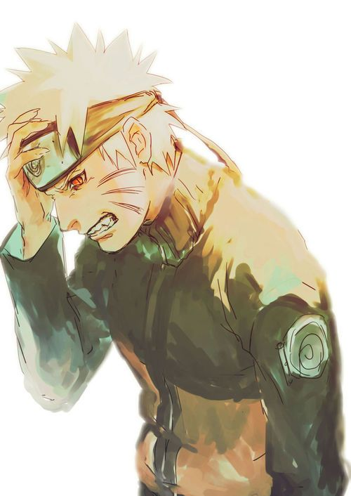 Naruto and his inner demon #naruto #uzumaki