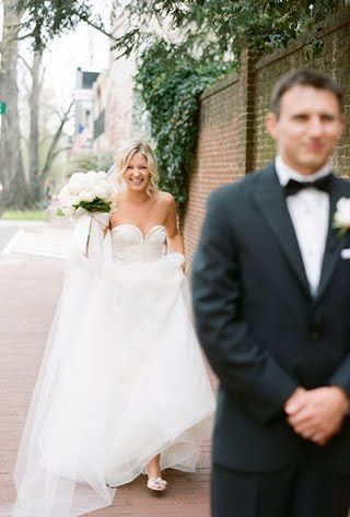 First Look Wedding Photos | Brides.com