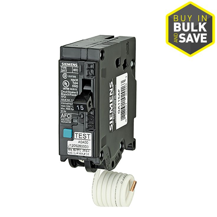 Siemens Qp 15 Amp 1 Pole Combination Arc Fault Circuit Breaker Lowes Com Electrical Breakers Breakers Siemens