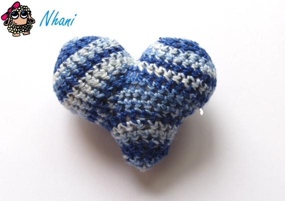 Brooch ♥ Blue Cuore ♥ · Designed by Nhani www.nhanicomplements.blogspot.com