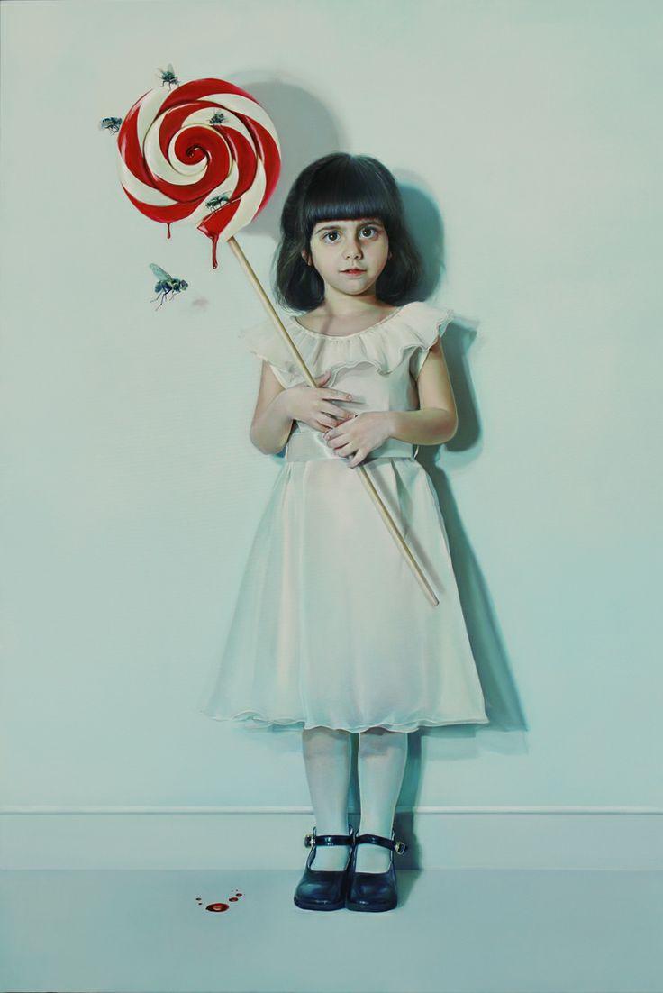 Elisa Anfuso - Pensierino sull'oggetto e sulle sue pulsioni Olio e pastelli su tela, cm 80x120, 2013