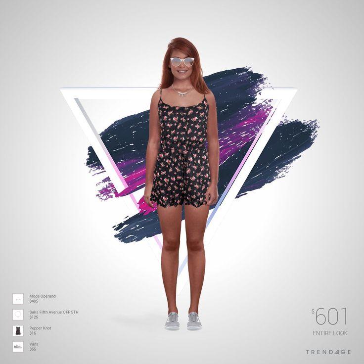 Roupa desenhada por Sofia usando roupas de Saks Fifth Avenue OFF 5TH, Moda Operandi, Pepper Knot, Vans. Estilo feito através do Trendage.