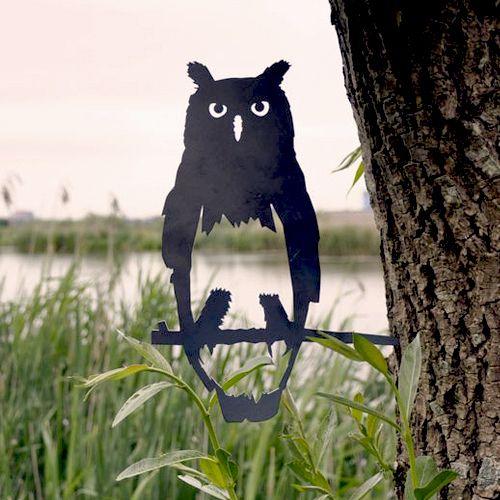De Uil is een imposante verschijning  Je eigen Metalen Vogel Silhouet van deze mysterieuze vogel