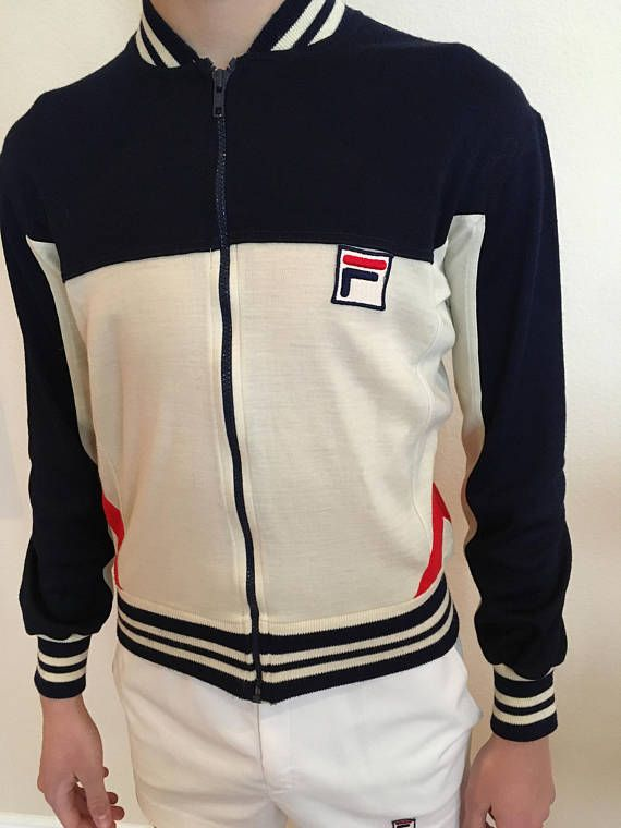 Vintage Fila white line 1978 jacket Borg era made in Italy