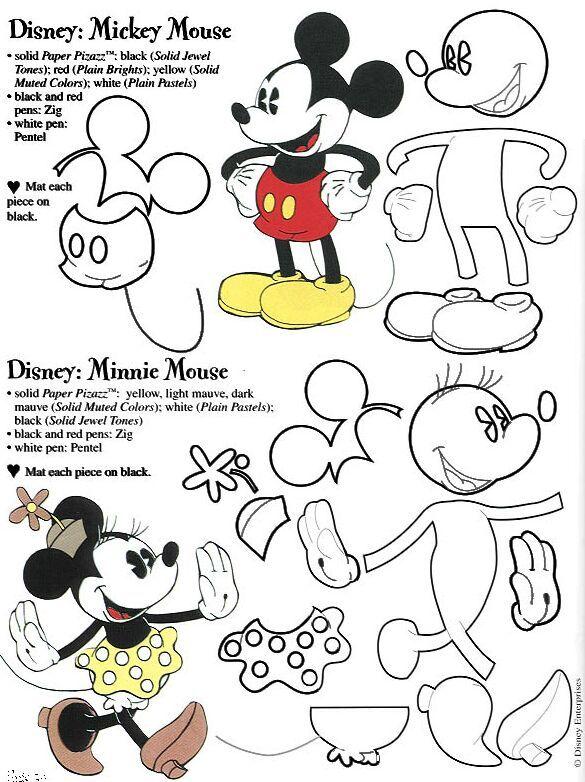 Moldes de Mickey Mouse en foami - Imagui