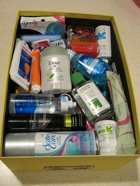 "The Bride's ""Oh crap Kit""... Throw anything and everything the bride might need in a bag or box, have the Maid of Honor carry it around or know where it is at all times."