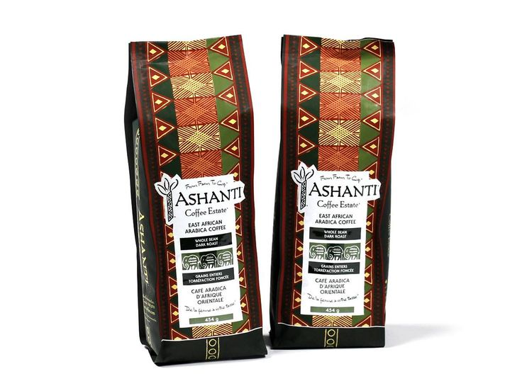 Ashanti coffee beans are grown in east africa using
