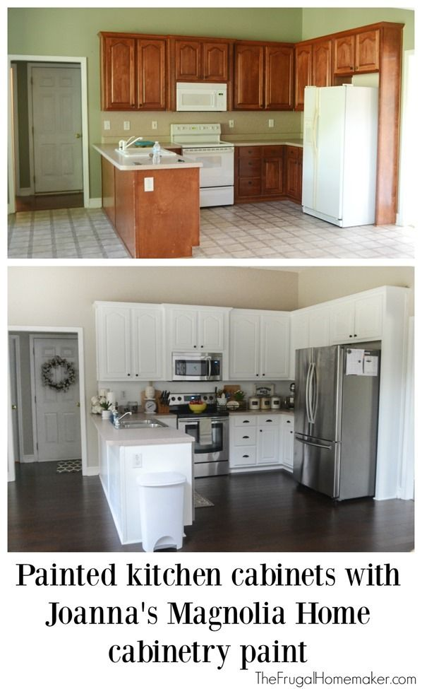 Painted Kitchen Cabinets With Magnolia Home Paint Stained