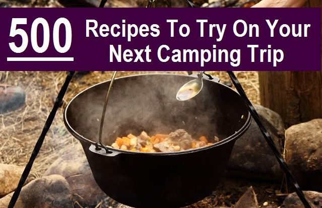 500 camping recipes. Not that I camp THAT often but why not have options?