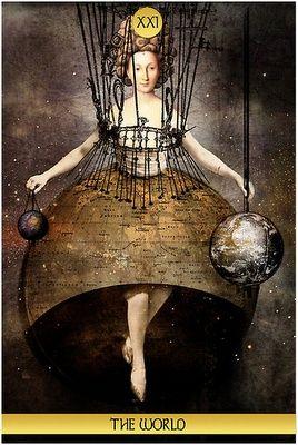 tarot card, the world
