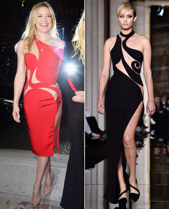 Your Guide to Spring 2015 Couture Fashion Week - Actresses at the Atelier Versace Show, Both On and Off the Runway from #InStyle