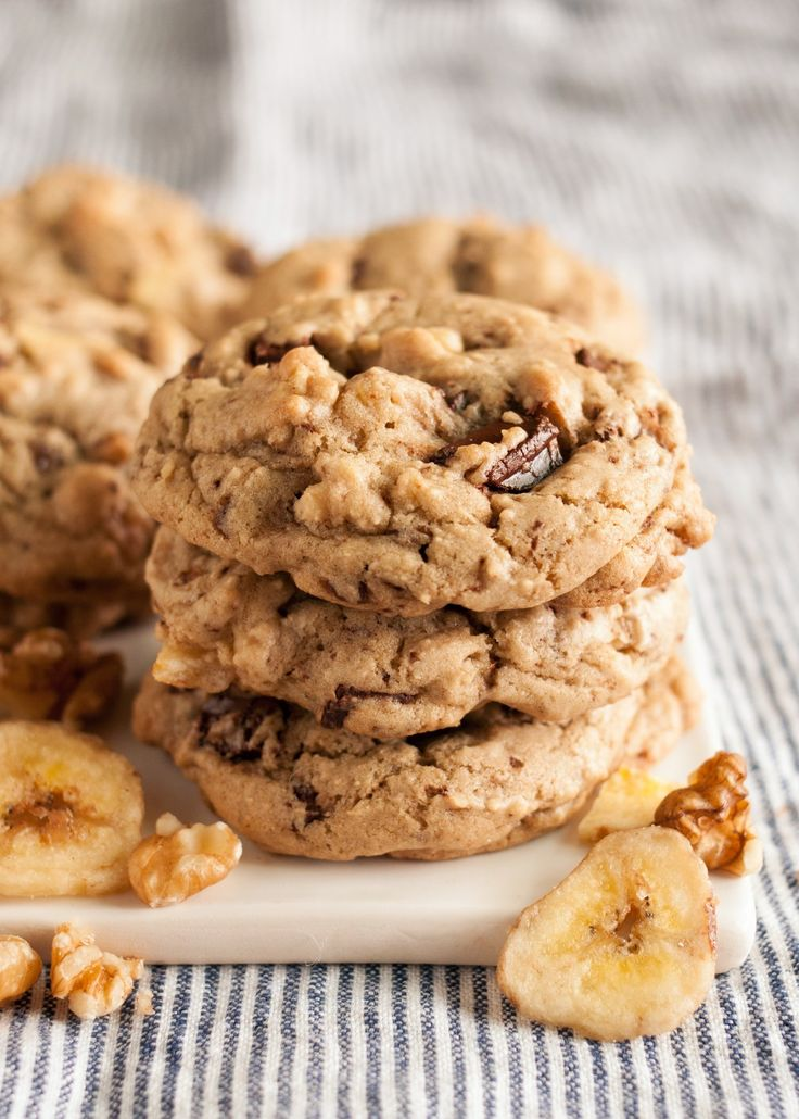 Chocolate chunks, chopped walnuts, and banana chips — once I got the idea in my head to make a cookie version of Ben & Jerry's Chunky Monkey ice cream, I couldn't stop obsessing. With all the ingredients in my cupboard, why prolong the inevitable?