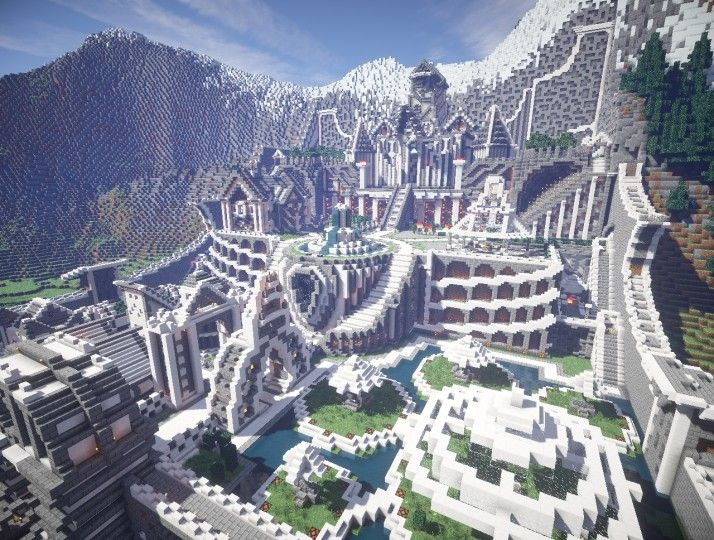 Residence in the mountains castle building minecraft for How to build a house in a mountain