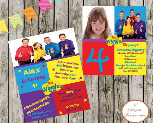 Wiggles Invitation Print your own by 3AngelsInspirations on Etsy