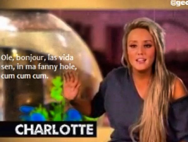 Geordie shore. Geordie shore quote. Funny. Charlotte. French