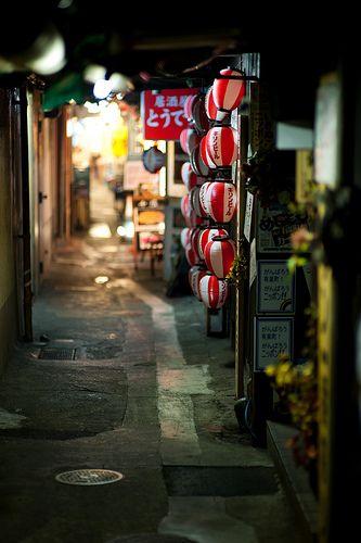 backstreet alley of Ginza, Tokyo Japan via flickr