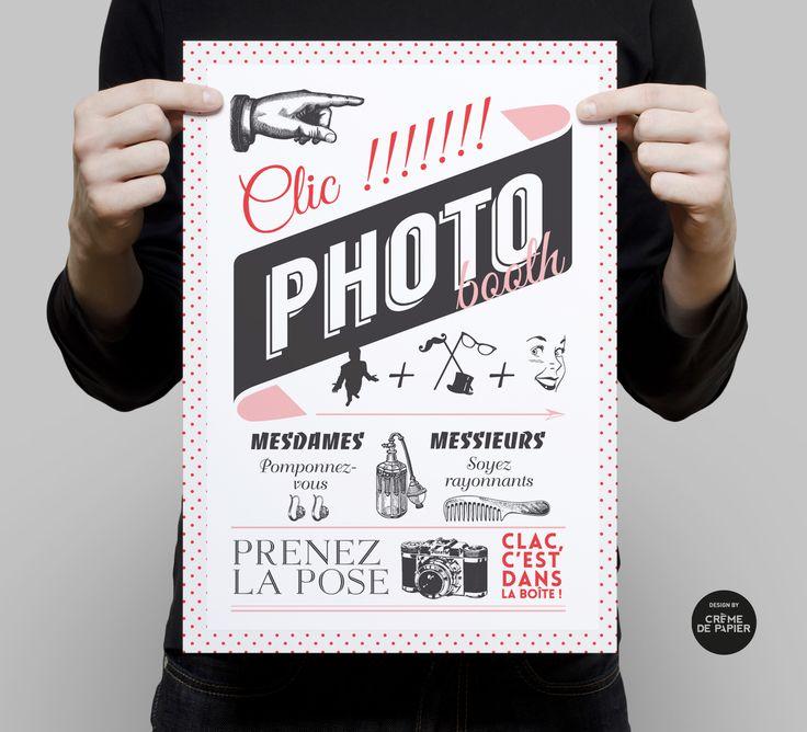 Panneau photobooth pop rock / Made by Crème de Papier