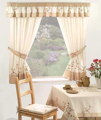 Modelos de cortinas para cozinha modernas baratas e for Cortinas de comedor baratas