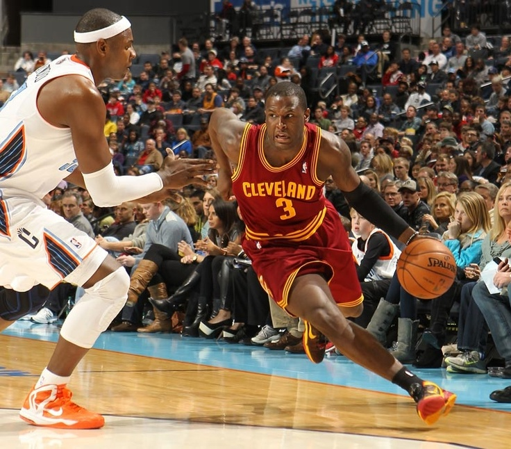 Guard Dion Waiters drives against Brendan Haywood of the Charlotte Bobcats at Time Warner Cable Arena on January 4, 2013 in Charlotte, North Carolina. - photo courtesy of Kent Smith / NBAE via Getty Images.