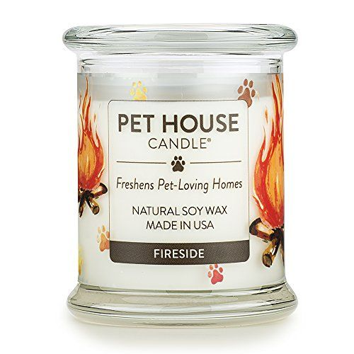 Pet House Candle in 15 Fragrances - All Natural Soy Wax Candle and Pet Odor Eliminator - Eco-Friendly, Non-Toxic, Paraffin-Free - 60-70-Hour Burn Time - Fireside #House #Candle #Fragrances #Natural #Odor #Eliminator #Friendly, #Toxic, #Paraffin #Free #Hour #Burn #Time #Fireside