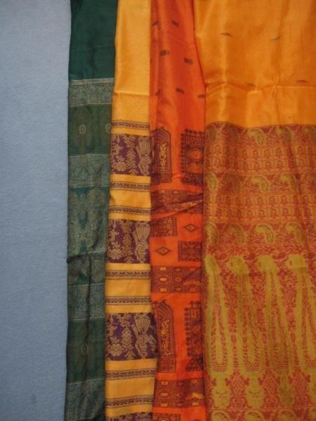 Diese Saris habe ich vor einiger Zeit aus Indien (Neu Delhi) mitgebracht.  - neu / nicht...,Sari / Saree - indischer Stoff - neu in Berlin - Charlottenburg
