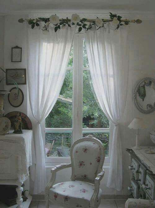 25 best ideas about shabby chic curtains on pinterest. Black Bedroom Furniture Sets. Home Design Ideas