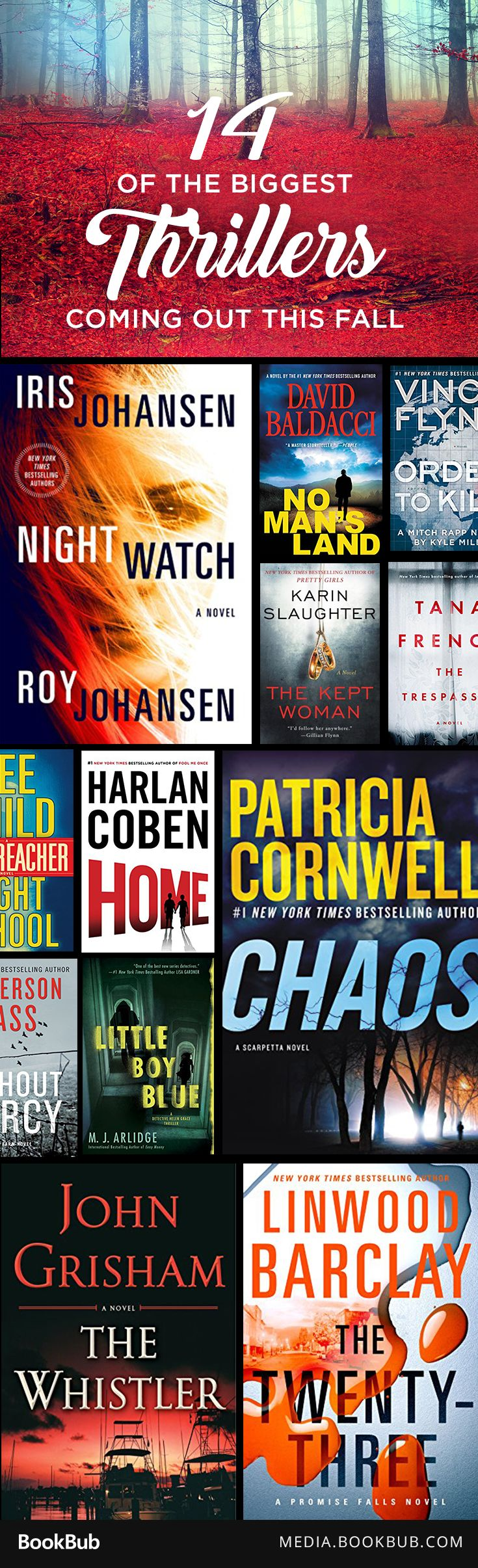 14 thrillers to read this fall, including books from Harlan Coben, Tana French…