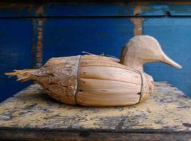 Oude Brocante Antiek Lokvogel Lokeend Eend Decoy Appellant