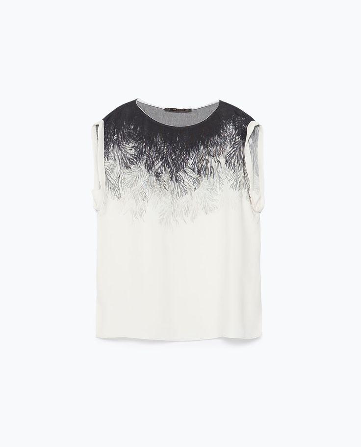 TOP ESTAMPADO-Blusas-Camisas-MUJER | ZARA España