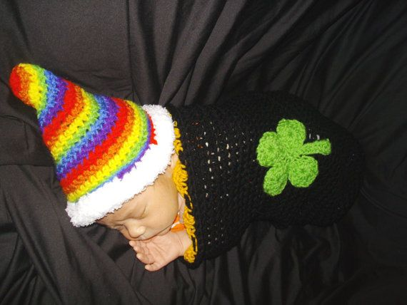 St Patricks Day Baby Cocoon Swaddler by DarleneMoon on Etsy, $30.00