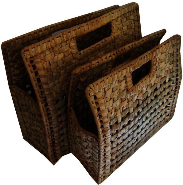 "Hand Bag, Wicker - Set of 2, great for picnic or beach outing. Large: 14"" x 14""…"