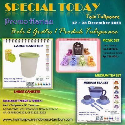 Promo Harian Tulipware 27 - 28 Desember 2013 | Twin Tulipware SC. Tambun