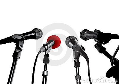 Stock Photo: Press Conference (editable vector or XXL jpeg image)
