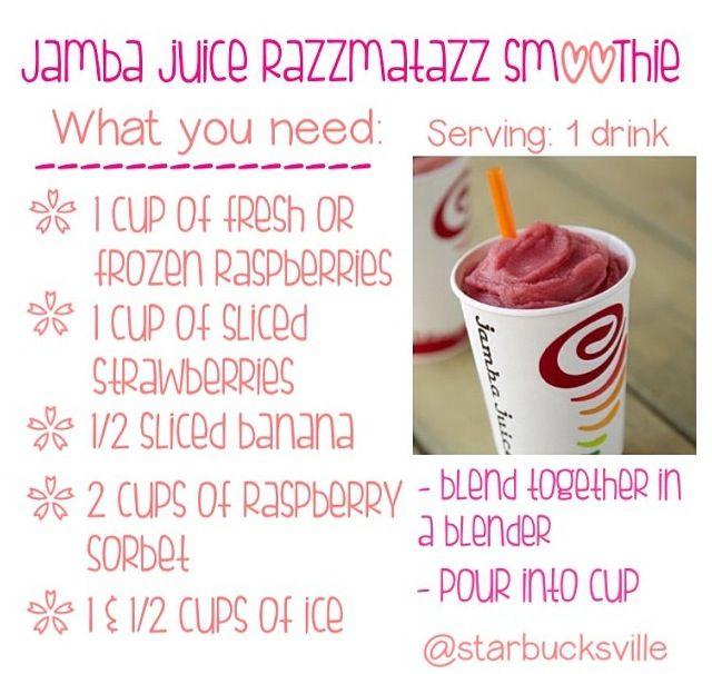 Jamba Juice razzmatazz smoothie!!(: