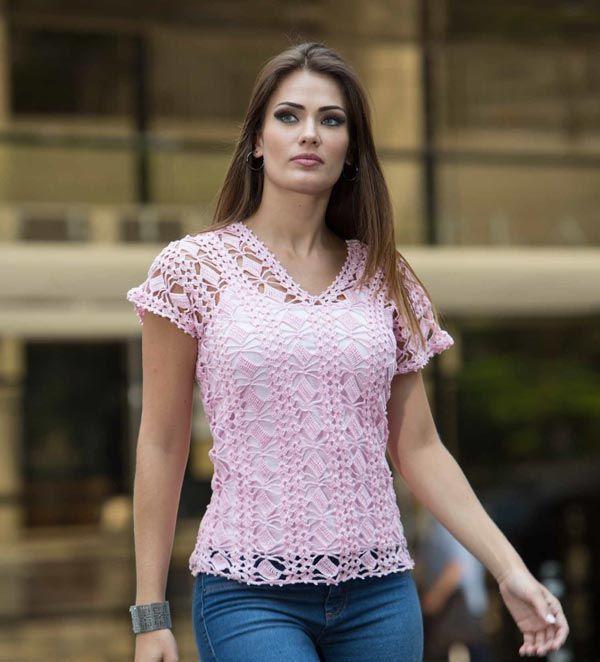 Bata Decote V Rosa – Linha Camila – Bazar Horizonte: O Blog do Maior Armarinho Virtual do Brasil