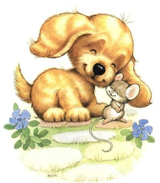 Нарисованные картинки открытки зверушки, когти кошке картинка