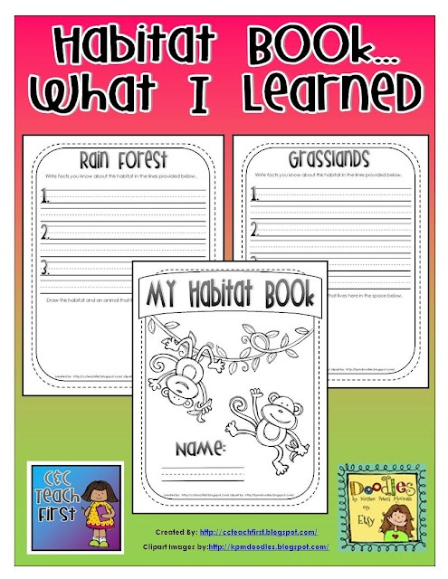 Habitats: Habitat Lesson, Science Habitats, Teaching Habitat, Habitat Book, Teaching Science, Animal Habitats Activities, Animal Habitat Activities, Animal Habitats First Grade, Learned Book