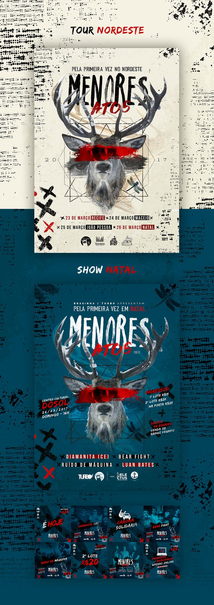 Poster design with a lot of text - Menores Atos Rj Tour Nordeste On Behance