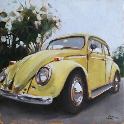 #VW_beetle #Beetle #VW #oil_painting #art #Dlove #darren_Love #bug #punch_buggy
