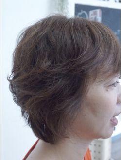 【簡単】大人ショートレイヤー×パーマ:L002864940|ヘアサロン ジール(Hair salon Ziel)のヘアカタログ|ホットペッパービューティー