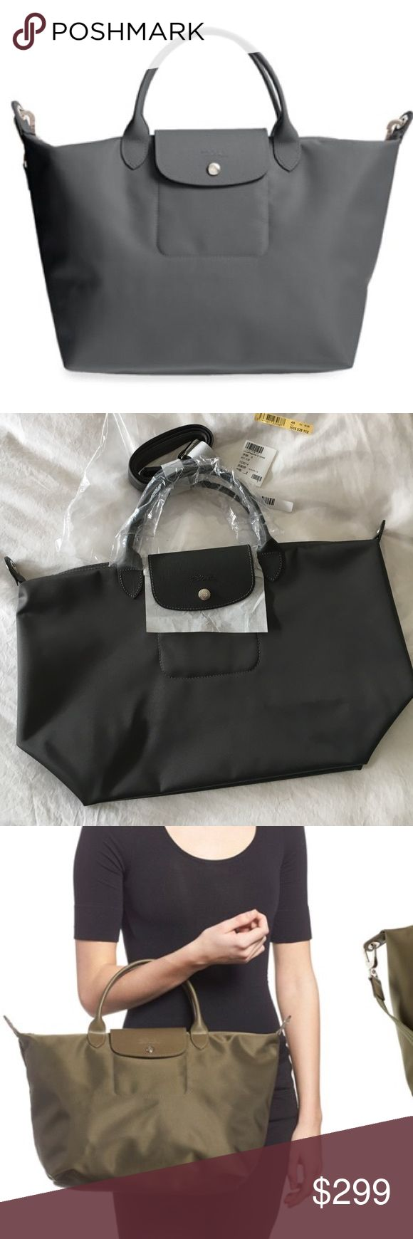 Medium Le Pliage Neo' Nylon Tote Medium Le Pliage Neo' Nylon Tote. Gray. Longchamp Bags Crossbody Bags