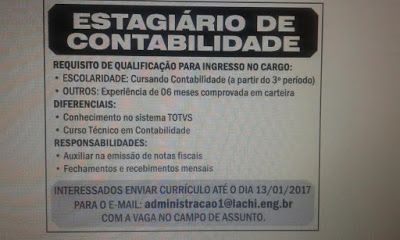 RH Manaus - Agência de Vagas: ESTÁGIO CONTABILIDADE