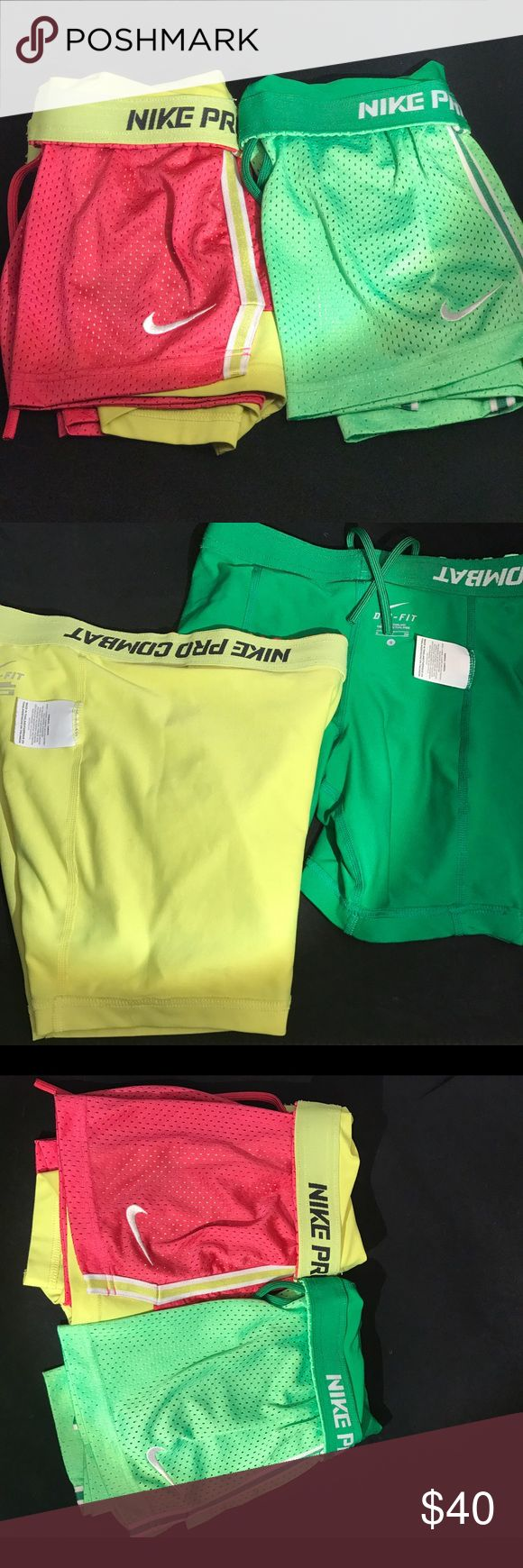 Nike Pro Combat Shorts Listing is 2 Nike Pro Combat Short Listing is for 2 Both are Size Small In Good Condition No Trades Nike Shorts