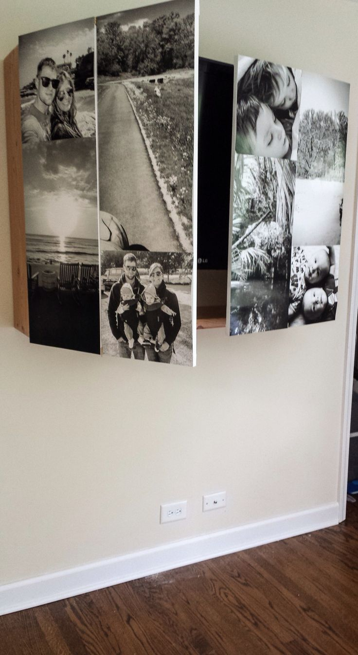 MW: Foto's van jullie/vakanties/U2 er op en je hebt overdag een mooie wanddecoratie en 's avonds open je de kast om tv te kijken. Prachtige oplossing om een tv weg te werken; zo mooi is zo'n zwart vlak nu ook weer niet!