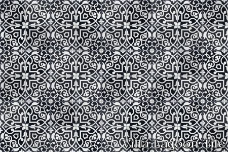 Gypsy Black & White cement tile, in a 9x6 layout..... this tile is just gorgeous...I would love this in the bath....starting to save up now!