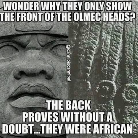 The Olmecs were the Mothers/Fathers of Mesopotamia and they were MOST DEFINITELY AFRIKANS...don't be fooled. Honor your Ancestars so that your days will be long on this Earth!?! Phoenixxx!?!