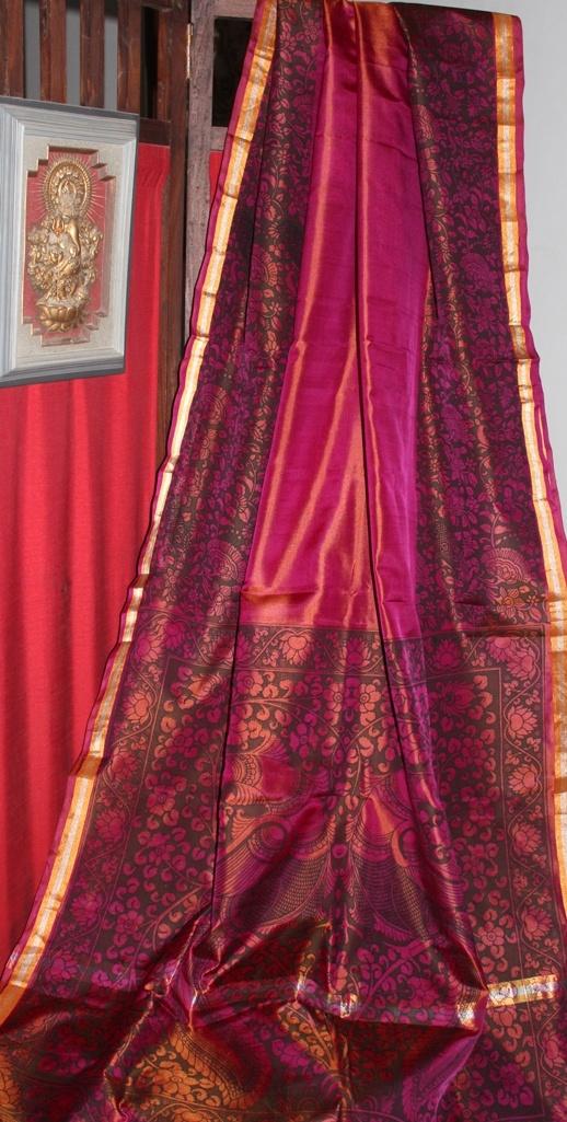 Uppada Silk with Kalamkari prints