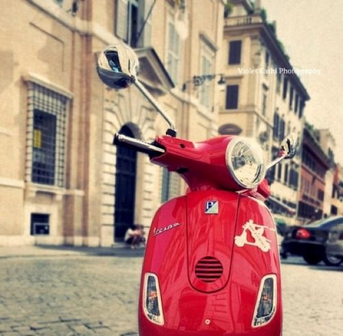 | ♕ | Vespa in Rome | by Violet Kashi