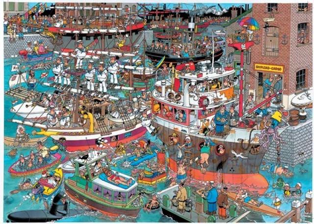 Jan van Haasteren: De Haven (1500 stukjes)