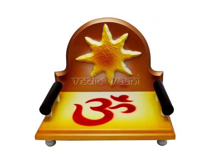 Om Surya Sinhasan for Deity, God and Goddess VedicVaani.com. Deity Thrones, Sinhasan for Bhagawan, Buy Throne for God, Deity Thrones, Singhasan online to USA